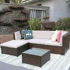 iKayaa 5x Outdoor Patio Sofa Set Sectional Furniture PE Wicker Rattan Couch O5P3