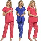 Zeta Ville. Women's Maternity Top Nursing Breastfeeding Pyjamas Nightwear. 520p