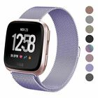 Metal Milanese Magnetic Loop Strap Stainless Steel Wrist Band for Fitbit Versa image