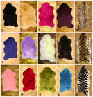 SOFT FAUX FUR SHEEPSKIN WASHABLE PELT SHAPE 70x100 cm DEEP PILE SHEEPSKIN RUG