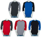 Styllion Big and Tall & Regular Size - Mens Raglan Baseball Shirts Heavy Weight