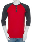 Styllion Big and Tall & Regular sizes - Men's Raglan Henley Baseball Shirts