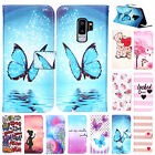 For Samsung Note 8 S9 S8 Plus Pattern Flip Card Wallet Case
