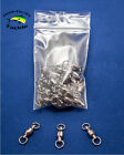 Kyпить Ball Bearing Fishing Swivels Solid Ring - #3 #4 #5 - 25 or 50 pack на еВаy.соm