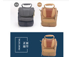Brown / Gray canvas camera bag case for Leica CL TL2 M10 TL X-U (Typ 113), D-LUX