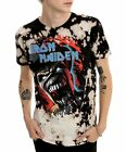 Iron Maiden T-Shirt Eddie Logo metal rock Official Bleach L XL 2XL 3XL Last NWT