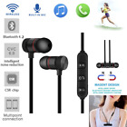 Magnet Wireless Bluetooth Sports Earphone Headset Headphone For iPhone Samsung #