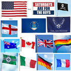 3 x 5ft Large National Country Flag Polyester Banner Decor With Eyelets US