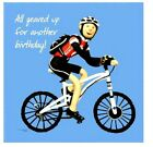 ALL GEARED UP FOR ANOTHER BIRTHDAY Greetings Card Cycling Sport Tour de France