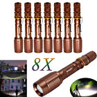Tactical Zoomable Focus 500000LUMENS T6 LED Flashlight+Charger 18650Battery US
