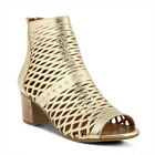 New In Box Spring Step Women's AWOW-GLD Gold Leather Peep Toe Sandals