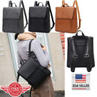 Women Leather Backpack Shoulder School Book Travel Handbag Rucksack Bag B9 image