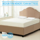 """Queen Leather Upholstered Platform Metal Bed Frame with 10"""" Memory Foam Mattress"""