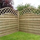 Garden Wooden Fence Panels - Continental - Lincoln - Pressure Treated