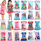 Girls Kid Nightie Nightdress Cartoon Character Sleepwear Pyjamas Nightgown 2-13Y image