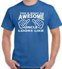 This Is What An Awesome Uncle Looks Like Mens Funny Father's Day T-Shirt Gift