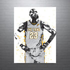 LeBron+James+Gray+Jersey+Cleveland+Cavaliers+Poster+FREE+US+SHIPPING