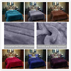 All Seasons Lightweight Soft Solid Fleece Blanket For Bed King/Queen Size image
