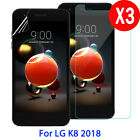 3X Tempered Glass Screen Protector PET For LG Aristo 2/K8 2018/Tribute Dynasty