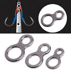 5/10X Fishing Butterfly Jigging Figure 8 Solid Ring Assist Stainless Hook Steel