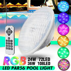 Romete Control 24/36W Stainless RGB LED Underwater Swimming Pool Light Lamp