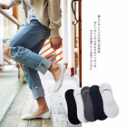 10 Pair Men Cotton No Show Solid Loafer Invisible Nonsilp Boat Classic Socks Lot