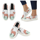 InterestPrint Custom Cute Little Fox Slip On loafers Women's Canvas Flat Shoes