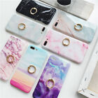 Glossy Granite Marble Ring Soft TPU Phone Case Cover For iPhone X 7 6 6s 8 Plus
