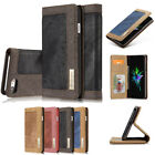 Denim Magnetic Flip Folio Wallet Card Slot Stand Cover Case for iPhone 5/6/7/8/X