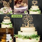 Внешний вид - Romantic Mr. and Mrs. Cake Toppers Wooden Wedding Cake Topper Party Cake Decor