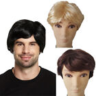 3 COLOURS 60S 70S 80S MENS SHORT BOY BAND MALE WIG FANCY DRESS ACCESSORY