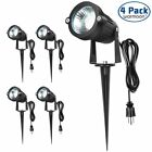 4Pack 5W Landscape Lighting Led Kit Outdoor 85-265V Spotlights Lamps Garden Yard