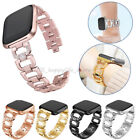 Lady Bling Rhinestone Stainless Steel Watch Wrist Band Strap For Fitbit Versa US image