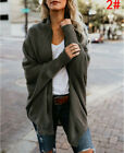 UK Womens Winter Baggy Cardigan Coat Top Chunky Knitted Oversized Sweater Jumper