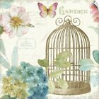 Wall Decal entitled Rainbow Seeds Floral Birdcage III v2