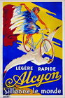 96927 Legere Rapide Alcyon Bicycle Paris French Decor WALL PRINT POSTER UK