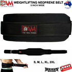 "WEIGHTLIFTING BELT NEOPRENE GYM BODYBUILDING FITNESS TRAINING EXERCISE MMA 5""NEW"