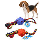Pet Dog Playing Silicon Ball With Rope Chew Fetch Grinding Training Outdoor Toy
