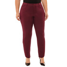 Boutique Plus Women's Mid Rise  Ankle Woven Pants, Slim Leg $52