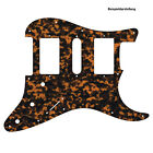 HSH PICKGUARD für US / MEXICO STRAT Standard od. Floyd Rose Tremolo brown tiger