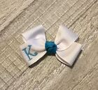 Turquoise Monogram Infant Hair Bow