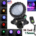1-4pcs Submersible 36 LED RGB Pond Spot Lights for Underwater Pool Fountain IP67