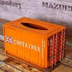 Container Tissue Box Case Creative Iron Removable Tissue Seat Type Napkin Holder