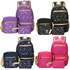 3pcs/Set Backpack Women Canvas Travel Bookbags Educational institution Bags for Teenage Girls