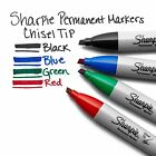 Sharpie Permanent Markers, Chisel Tip, Black / Red / Blue / Green
