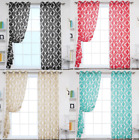 CHIC 1 SINGLE PANEL GROMMET VOILE SHEER WINDOW DRESSING CURTAIN TREATMENT