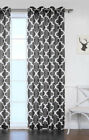 1 PANEL GROMMET PRINTED VOILE SHEER WINDOW CURTAIN TREATMENT BLACK/WHITE