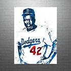 Jackie Robinson Los Angeles Dodgers Poster FREE US SHIPPING on Ebay