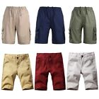 Men's Loose Shorts Summer Casual Beach Sports Pockets Mid Waist Short Fashion