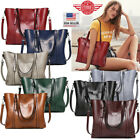 Women Leather Tote Bag Handbag Lady Purse Shoulder Messenger Satchal Bags T35